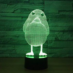 3D Mignon Poulet Motif led Veilleuse 7 Couleurs Télécommande Tactile Lampe de Chambre Décoration de Maison Cadeau de Noël Enfants