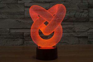 3D Visual Led Lumières 7 Couleurs Led Lampe de Nuit pour Enfants Tactile de Led USB Table Bébé Veilleuse Cadeau Anniversaire Bar Décoration Jour des Enfants Cadeau