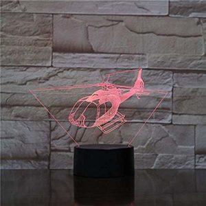 FENSHAN 3D Illusion 7 couleur tactile hélicoptère 7 couleurs capteur chambre décoration chambre lumières LED veilleuses pour enfants enfants bébé