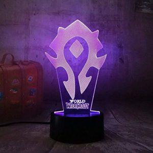 FENSHAN 3D veilleuse nouveau 7 couleurs décor lampe de Table changement d'illusion optique avec télécommande cadeaux d'anniversaire pour