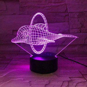 FNWB Veilleuse Cirque Mignon Dauphin 3D LED Lampe Illusion Veilleuse Led 7 Couleurs Décoration de Table Nouveauté Lumières pour Enfants Cadeau de Noël ou Amis