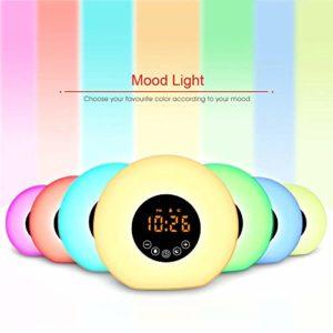 KitchenMe Réveil LED Bluetooth Smart USB Cadeau créatif