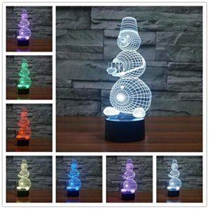 Lampes de table pour chambre à coucher, cadeaux de Noël, abat-jour pour lampes de table, LED USB 7 couleurs changeantes pour bébé, veilleuse, cadeau d'anniversaire, cadeau pour fille, style 12