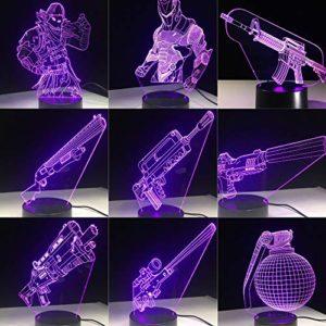 LPHMMD Veilleuse 3D LED Lampe 7 Couleurs Interrupteur Tactile de Table Lampe de Bureau Lave Lampe Acrylique Illusion Éclairage Fans Cadeau