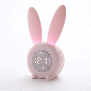 Minuterie veilleuse de nuit réveil multifonction LED minuterie réveil de charge USB lampe de chevet