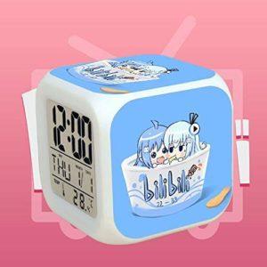 N/Z Cadeaux d'anniversaire pour les enfants Animation Petite Tv Animation Réveil Led Coloré Lumière de Nuit Lumière de Lumière de Lumière Horloge J,J