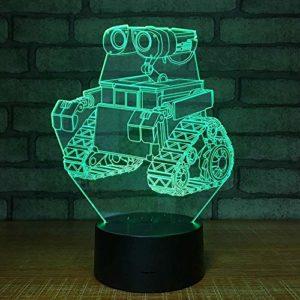 Veilleuse 3D Pour Enfants, 7 Couleurs Cartoon Led Lampe De Table 3D, Lumières Accueil Lumières Coloré Télécommande Tactile Lampe 3D Lampe De Chevet Lumière Optique 7 Changement De Couleur Lampe Pour Enfants