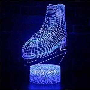 Veilleuse pour enfants Art abstrait 3D LED Veilleuse à distance 7 couleurs Décoration d'intérieur Enfants Filles Garçons Cadeau de Noël 1 Lampe de décoration de bureau @9