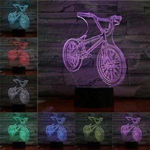 Veilleuse pour enfants vélo série 3D LED veilleuse décoration d'intérieur enfants filles garçons cadeau de Noël à distance 16 couleurs ensemble C éclairage de décoration pour enfants