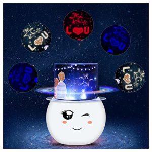 WGXQY Lampe De Projection Colorée Amant d'anniversaire Projecteur De Ciel Étoilé Dégradé Coloré Cadeau De Noël Rotatif À 360 Degrés