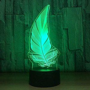 ZWANDP Lampe de chambrede Noël Veilleuse 3D Lampe Oiseau Stylo Nuit Lampe LED 7 Couleurs pour USB LED Tactile Lampe Lampe Lampe Lampe Veilleuse pour Dormir Bébé
