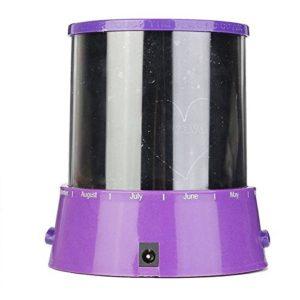 Aeeque Romantique [violet] Lampe LED Master ciel étoile Étoilées mini étoiles Projecteur [avec câble USB] Enfants Lampe de Chevet Maison de Chambre Décoration