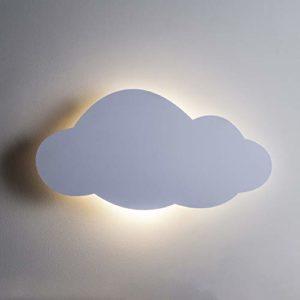 Lights4fun Lampe Veilleuse LED Murale en Forme de Nuage à Piles