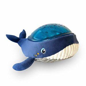 Pabobo – Kid Sleep – Aqua Dream – Baleine – Veilleuse Musicale Nomade et Projecteur Dynamique Aqua pour Bébé et Enfant – Bleu