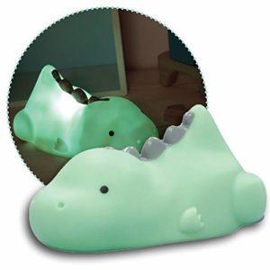 Reer Lumilu Lazy Friends Dinosaure Veilleuse mignonne Cadeau de Baptême Anniversaire pour Garçons et Filles