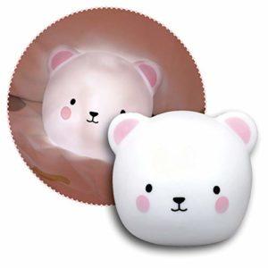 Reer Lumilu Touch Light Bear Veilleuse et applique murale 2 en 1 en forme d'ourson Idéal comme cadeau de baptême, cadeau d'anniversaire pour garçons et filles