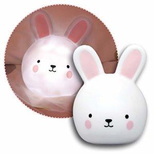 Reer Lumilu Touch Light Bunny Veilleuse et applique murale 2 en 1 en forme de lapin Idéal comme cadeau de baptême, cadeau d'anniversaire pour garçons et filles