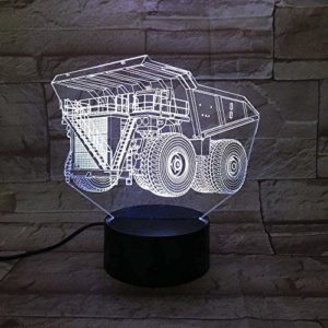 ZWANDP 3D veilleuse camion voiture 7 couleur changeante coloré stéréoscopique Illusion visuelle lampe Usb Led ampoule décor lumière