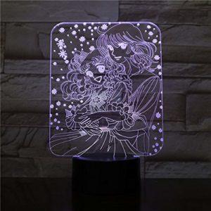Belle veilleuse LED 3D pour la décoration de la chambre beau modèle cadeau lumière de sommeil de table USB