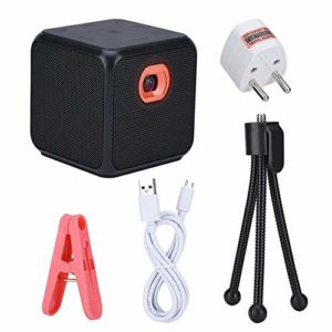 Bewinner Micro projecteur avec trépied, projecteur vidéo DLP de 30-120 Pouces Portable pour Le Support HDMI de Divertissement cinéma/Voyages/Carte/Bluetooth/Effet de cinéma(16G)