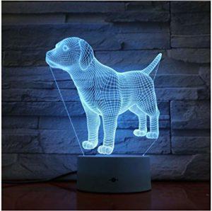 Caniche Bulldog Jack Russell Terrier Rottweiler Doberman 3D LED lampe enfants veilleuse chien Style bureau 3d lampe pas de contrôleur