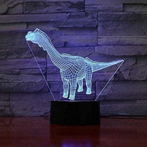 Dinosaure Modélisation Lampe De Bureau 3D 7 Coloré Changeant Led Bouton Tactile Veilleuse Usb Chambre Bébé Sommeil Luminaire Décor À La Maison
