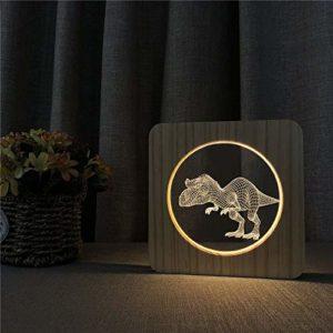 Dinosaure veilleuse lumière de gravure commutateur table contrôle lampe de gravure pour la décoration de la chambre des enfants