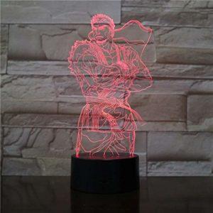Dragon Ball 3D veilleuse 7 types de changement d'atmosphère dessin animé cadeau lampe de table chambre sommeil lampe éclairage décoration