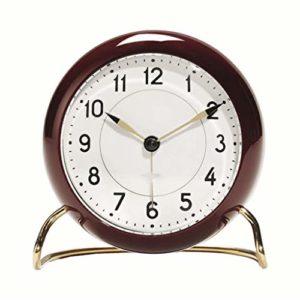 JJZST Réveil Silencieux Rond Simple réveils Modernes for Chambres à Coucher avec veilleuse Douce réveil Matin Horloge (Color : B)