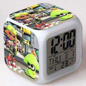 jouets de bande dessinée pour enfants, cadeaux lumineux, réveil LED à changement de couleur, horloge numérique, veilleuse 11