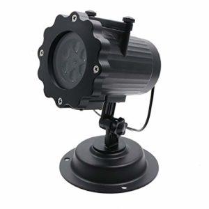 JXBH Déplacement De Lampes De Projecteur De Neige Lourde Flocon De Neige LED Lumière De Scène en Plein Air Fête De Noël Paysage Pelouse Chute De Neige Lumière