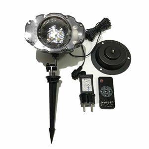 JXBH Lampe De Projecteur De Paysage De Flocons De Neige De Noël LED Projecteur D'étape Imperméable à l'eau