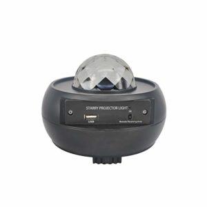JXBH Lampes De Projecteur à LED, Lampe De Projecteur Ocean Wave Star Sky avec Haut-Parleur De Musique, Capteur De Son, Télécommande, pour Noël
