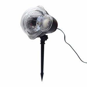 JXBH Projecteur De Flocon De Neige De Noël, Projecteur De Flocon De Neige Rotatif avec Télécommande Et Fonction De Minuterie Projecteur LED étanche