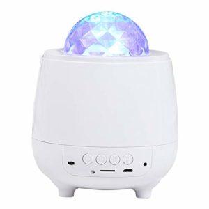 JXBH Projecteur LED Galaxy, Projecteur Ocean Wave, Lumière Tourbillonnante Rouge avec Capteur De Son Bluetooth, Veilleuse étoilée avec Minuterie
