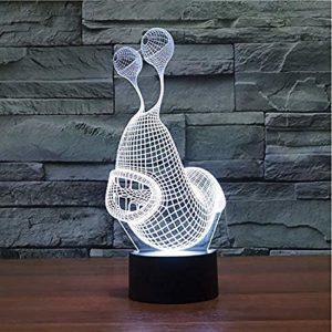 Lampe Illusion D'Optique Slug 3D Veilleuse Led 7 Couleurs Changeantes Bouton Tactile Lampe De Table Usb Dessin Animé Escargot Forme Luminaire Enfants Cadeau