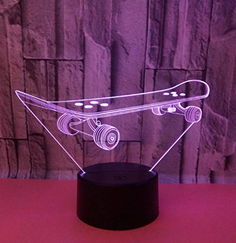 QHZCJ Veilleuse 3D pour Enfants Scooter Lampe LED USB Veilleuse Illusion lumière de Table aux Couleurs Changeantes avec Télécommande pour Enfants Adultes Chambre Décor
