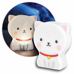 Reer Lumilu Cute Friends Cat Veilleuse de Chat Mignon Cadeau de Baptême Anniversaire pour Garçons et Filles