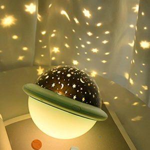 UFO Projecteur de chambre d'enfant pour enfants, monde marine/ciel étoilé/projection de galaxie (vert)