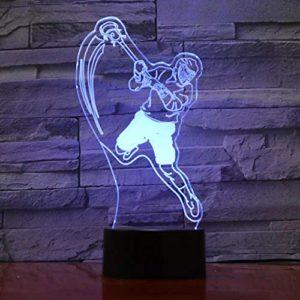 Veilleuse LED 3D de sports de hockey sur glace avec 7 variations de couleurs Décoration USB