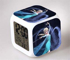 Yangoo Réveil Numérique Horloge de Chevet avec la Veilleuse LED Affichage de la 12H/24H Temps Horloge de Chevet Cadeaux Anniversaire Noël,C