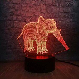 3D LED veilleuse thaïlande éléphant USB Illusion Animal lampe Table couleurs changement chambre décor cadeau d'anniversaire enfants enfants jouets