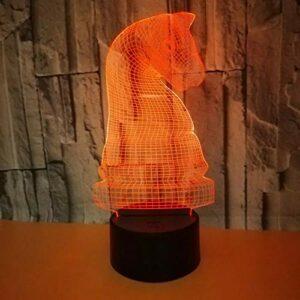 3D Night Light Entertainment Jeu d'échecs 3D LED Night Light Touch Lampe USB Aide au sommeil Veilleuse