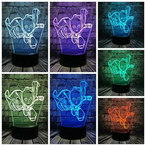 3D veilleuse 3D LED veilleuse personnages animés un coup de poing pour résoudre la lampe de table domestique fans de bandes dessinées lumières décoratives vacances cadeaux d'anniversaire