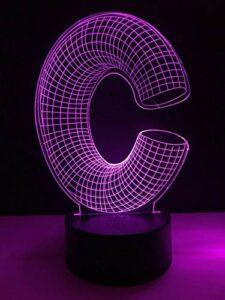 3D veilleuse 3D lumière lettre forme multi-couleur bureau veilleuse LED éclairage bureau décoration cadeau