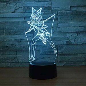 3D veilleuse dessin animé 3D lumière LED veilleuse tactile LED USB lampe aide au sommeil veilleuse enfant lampe