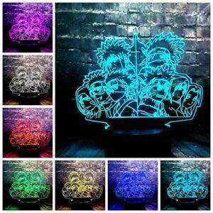 3D veilleuse personnage de dessin animé USB Base décoration anniversaire douce veilleuse noël décoration cadeau