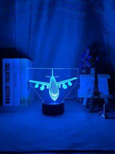 Acrylique 3d Illusion Led veilleuse avion modèle veilleuse cadeau pour enfants enfant chambre décoration coloré 3d lampe chevet
