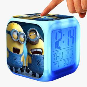 Alarm Clock Children's Toys Cartoon Digital Clock Wake-up Light LED Clock Reloj Despertador Table Reveil Desk Wekker 24