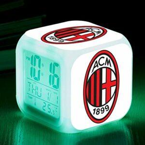 alicefen Lampe de Table de Chambre d'enfant de Football/Soccer Team Cagliari Calcio Touch Lighting Up LED réveil Montre